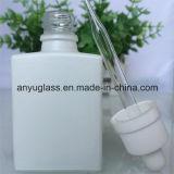 Fles van het Glas van de Essentiële Olie van de melk de Witte met Plastic Aluminium GLB