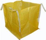 Grand sac enorme en bloc jaune du tissu pp