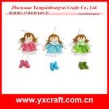 Décoration heureuse de poste d'ange de fille de Noël artificiel d'ange de Noël de la décoration de Noël (ZY11S251-6-7-8)