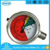 50mm tout le manomètre rempli d'huile d'indicateurs de pression de vide d'acier inoxydable
