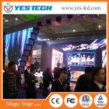 Yestech 마술 단계 P3.9mm 풀 컬러 실내 임대 영상 LED 스크린