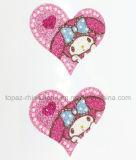Etiqueta engomada cristalina del laser de la etiqueta engomada del tatuaje del brillo de la etiqueta engomada del corazón de Bling Bling para el arte de la decoración (corazón TS-527)