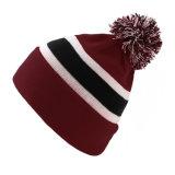 カスタムブランクアクリルのジャカードによって編まれる帽子POM POMの帽子
