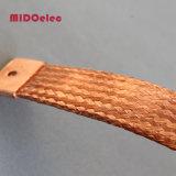 Connecteur électrique tressé plat flexible de cuivre