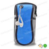 Brazal corriente de los deportes de la promoción del neopreno impermeable azul del regalo para el teléfono