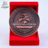 Moneta su ordinazione del ricordo del bronzo dell'oggetto d'antiquariato di marchio 3D di onore in metallo