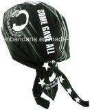 Продукция OEM подгоняла напечатанные логосом выдвиженческие черные крышки шлема черепа велосипедиста хлопка