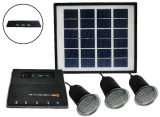 3PC 1W ISO 공장에서 태양 LED 점화 장비 시스템