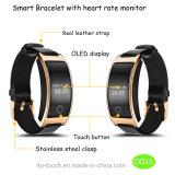Chronomètre à fréquence cardiaque Bracelet intelligent imperméable à l'eau avec long temps de veille