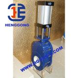 Válvula de porta pneumática cerâmica do disco dobro de DIN/API