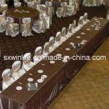 pano de tabela popular do projeto de Pintuck de pano de tabela do casamento 100%Polyester para Party&Banquet (WLTC003)