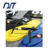 Kundenspezifisches Firmenzeichen gedruckte Sublimation-Flipflop-Strand-Schuhe