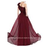 Платье выпускного вечера платья вечера платья оболочки плеча женщин шифоновое одно