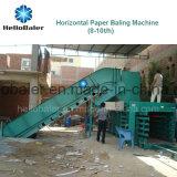 Het In balen verpakken van het Document van Hellobaler 10tons Automatische Machine met Transportband