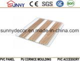 목제 플라스틱 천장 디자인 PVC 실내 장식적인 벽면, Cielo Raso De PVC