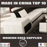 Sofá secional de couro em forma de u moderno