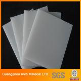 El plástico blanco lechoso/del ópalo echó a tarjeta de acrílico para las muestras de la carta
