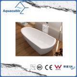 목욕탕 단단한 지상 독립 구조로 서있는 욕조 (AB6592)