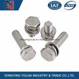 Asambleas GB9074 del tornillo de la pista del hexágono del acero inoxidable de la fabricación de China y elástica de arandela