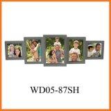 Картинная рамка коллажа стены серого цвета 5 раскрывая деревянная, самый лучший подарок (WD05-87SH)