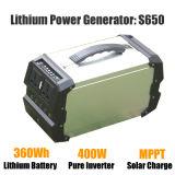 groupe électrogène solaire portatif et puissant de 400W pour à la maison/extérieur