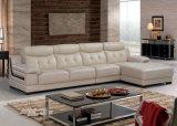 赤い革ソファー。 ホーム家具L形のソファー(938)