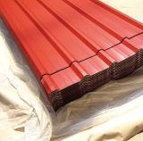 Lange Haltbarkeits-gewölbte Dach-Blech-Dach-Stahlfliese des Zink-80g im Rot