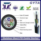 UIT G652D de 72 faisceaux blindée avec le conduit et le câble fibre optique aérien (GYTA)