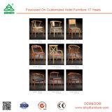 Présidences tapissées par présidences en bois modernes de luxe de restaurant d'hôtel d'étoile