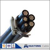 Câble en aluminium d'ABC de conducteur avec l'isolation de PVC/PE/XLPE, câble électrique d'ABC