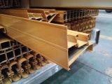 Profils en aluminium d'extrusion de pêche à la traîne de porte d'enduit de poudre de 878 séries avec le TUV certifié