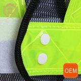 Gilet r3fléchissant de recyclage de sûreté de route élevée jaune de visibilité d'OEM avec votre propre logo