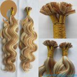 Extensión humana brasileña del pelo de la queratina de Remy de la Virgen