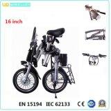 CE 16-Inch 1 segundo que dobra a bicicleta/bicicleta elétricas
