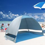 Openlucht Automatisch duikt de Onmiddellijke Draagbare Cabana het Kamperen van de Persoon van Tent 2-3 van het Strand Wandeling Picnicing van de Visserij de Antiop UVSchuilplaats van het Strand van de Tent van het Strand, in Seconden opzet