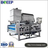 Imprensa de filtro da correia do tratamento da água para a secagem da água de esgoto de matéria têxtil