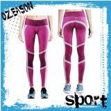 La ginnastica alla moda all'ingrosso Lycra di forma fisica ansima i pantaloni di yoga di sublimazione (YG003)