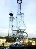Pipe de fumage en verre de Showerhead de recycleurs de la vente en gros 3