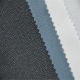 熱い販売の100%年の衣服のためにポリエステルによって編まれるあや織りの可融性に行間に書き込むこと