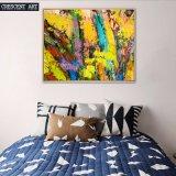 Pintura abstracta amarilla del arte para el hogar
