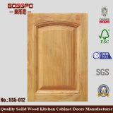 Porta de gabinete simples da cozinha da madeira contínua (GSP5-029)