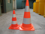 Cône de base orange de sécurité routière de PVC d'Européen