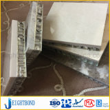 painel de alumínio do favo de mel da pedra do mármore do branco de 20mm