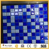 Mosaico di vetro blu scuro delle mattonelle di mosaico per il materiale da costruzione della piscina