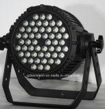 단계 점화 54PCS 3W RGBW 4in1 LED 방수 알루미늄 동위 빛 또는 세척 빛 또는 효력 빛