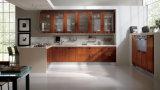 기구 식품 저장실을%s 가진 L 모양 부엌 가구 사각 손잡이 현대 작풍