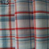 ワイシャツまたは服Rls40-47poのための綿の縞のポプリンによって編まれるヤーンによって染められるファブリック