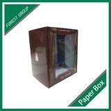 Caixa de cartão impressa cor com indicador do PVC