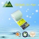 Roulis estampé thermique de papier de réception d'OEM de qualité avec le dos d'impression en fonction