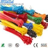 Enveloppe en nylon auto-bloqueuse de fermeture éclair de relations étroites de fermeture éclair de câble de serre-câble de qualité, noire et blanche